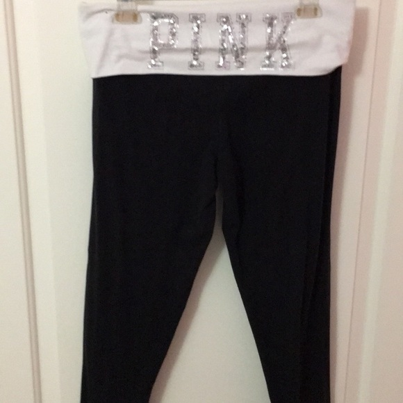 0c4d2235eb0275 PINK Victoria's Secret Pants | Fold Over Vs Pink Blink Leggings ...